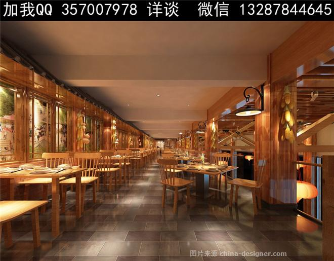 食堂设计案例效果图-室内设计师93的设计师家园-中餐厅,主题餐厅,农家