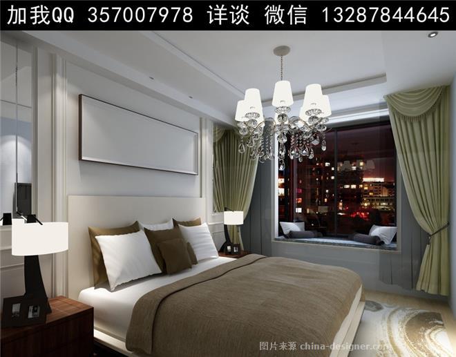 主卧室设计案例效果图-室内设计师93的设计师家园-酒店式公寓,跃层
