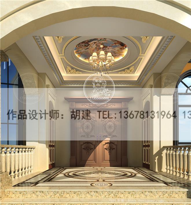 泸州葫芦岛欧式风格别墅设计效果图-胡建的设计师家园-独栋,欧式,奢华