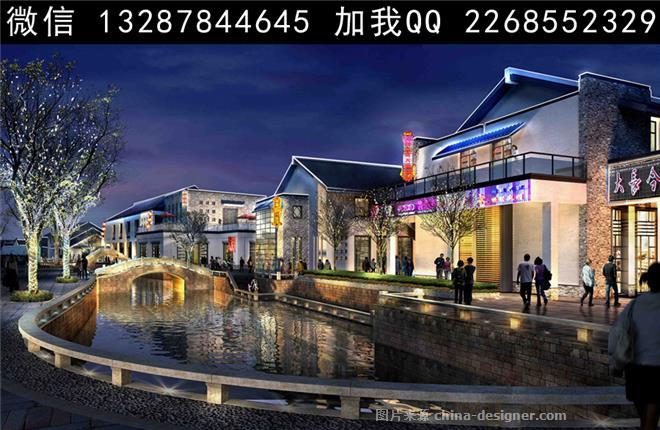 购物中心/商业综合体,新中式,景观效果图 园林效果图 苏州园林 徽派