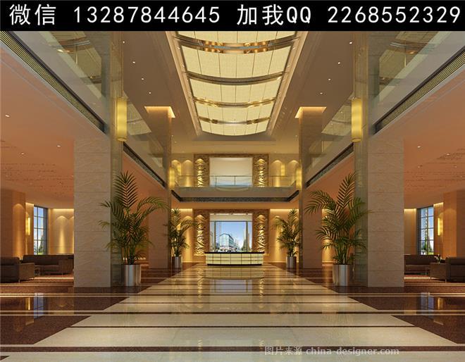 酒店大堂大厅设计案例效果图-室内设计师93的设计师家园-政务酒店