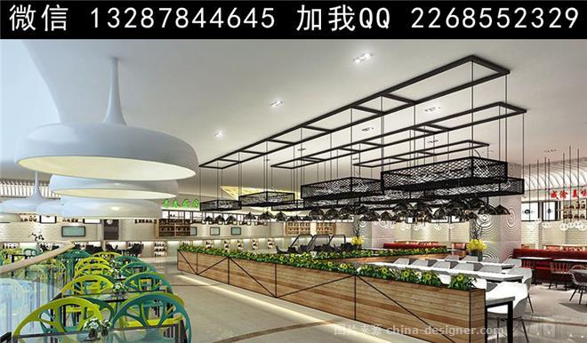 现代简约,美食城内景 美食城装修设计 快餐厅 简餐厅 美食大排档 美食