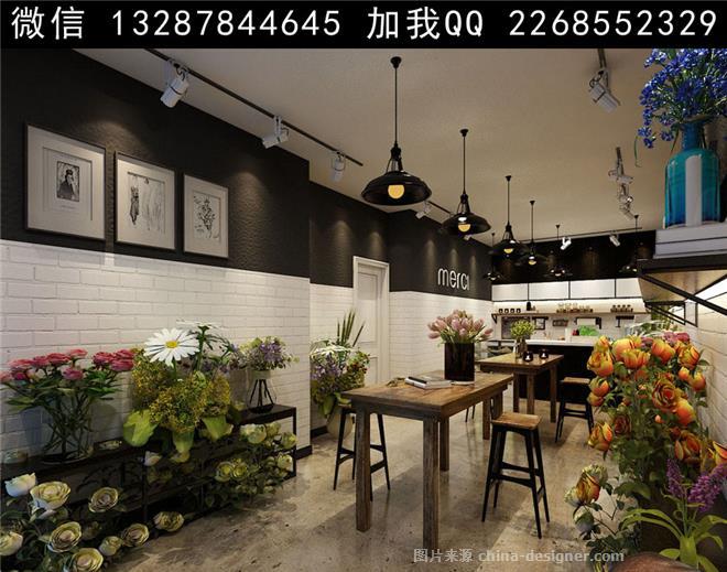 花店设计案例效果图-室内设计师93的设计师家园-花店,影音店,汽车维