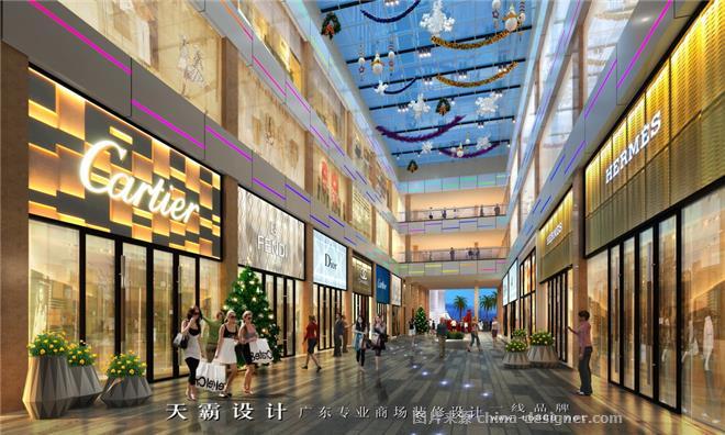 最新步行街设计效果图方案-广东天霸设计装饰工程有限公司的设计师图片