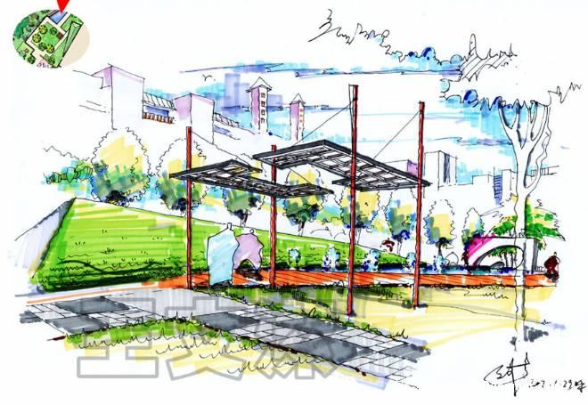 设计师家园-景观手绘-#.