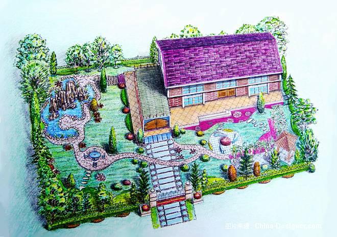 庭院设计-鸟瞰图-sh-宋辉的设计师家园-别墅