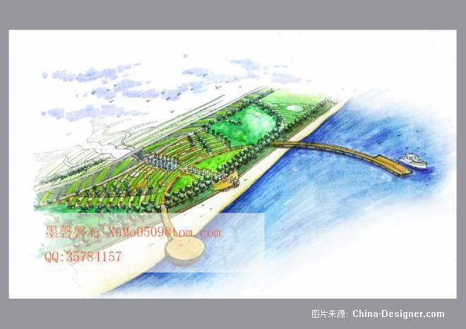 《中心广场方案2鸟瞰图》-设计师:徐墨.设计师家园