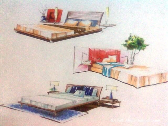 马克笔手绘单体001-杜鑫的设计师家园-卧室