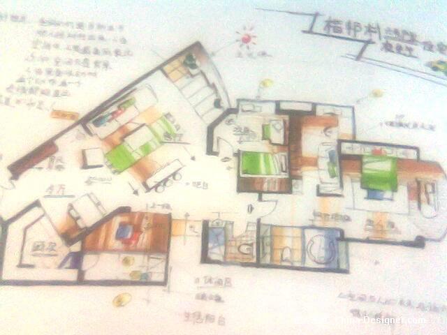 马克笔手绘平面图001-杜鑫的设计师家园-酷家
