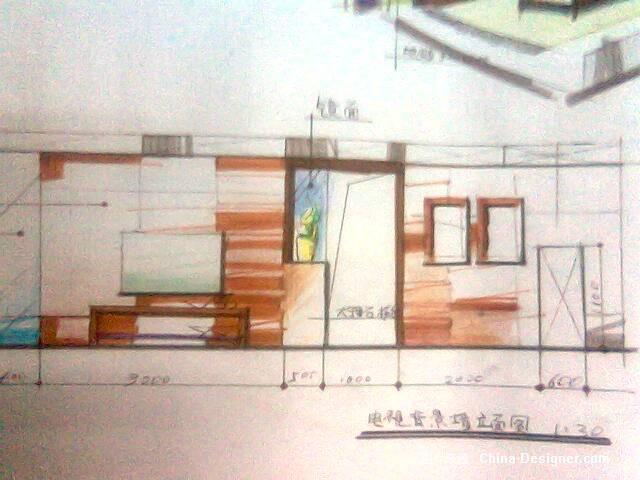 马克笔手绘效果图001-3-杜鑫的设计师家园-办公室