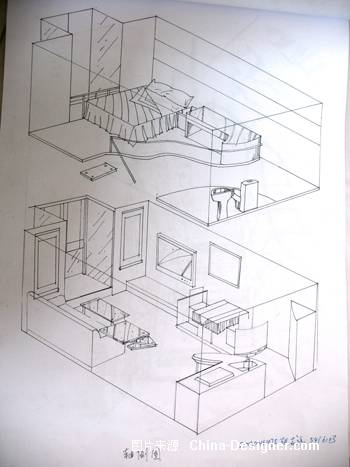 户型 户型图 简笔画 平面图 手绘 线稿 350_467 竖版 竖屏