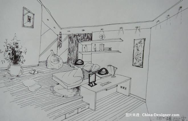 卧室(手绘)1