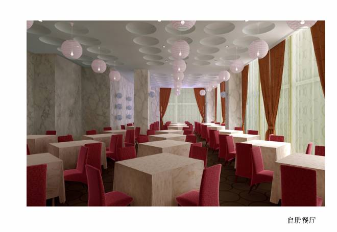 自助餐厅1 餐厅装修效果图;; 阿宽的设计师家园-室内设计,效果图,装修