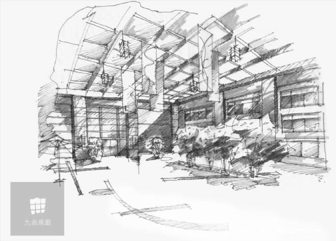办公中庭设计手绘快题分享展示