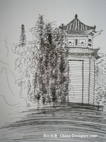 云南速写-危航的设计师家园-写生