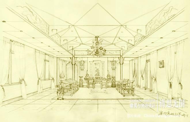 客厅透视图-刘君天室内设计的设计师家园-现代,中式