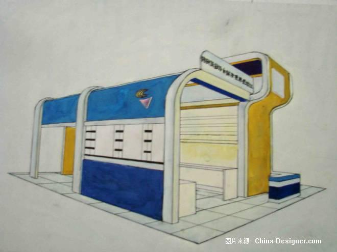《展示手绘图》-设计师:祝艺