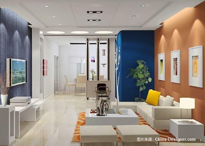 青岛样板间c户型西1-杨兴国的设计师家园-现代,绚丽