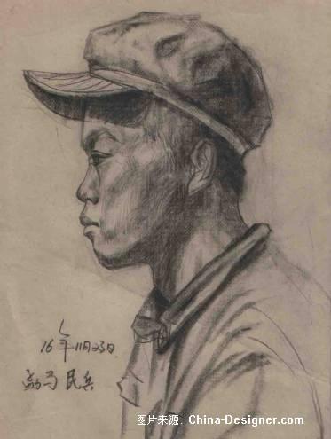 人物素描写生-佤族青年b-王术国的设计师家园-老师的作品