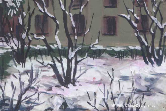 水粉画风景写生-昆明雪景-王术国的设计师家园-老师