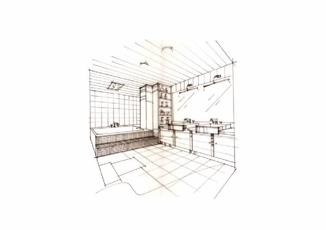 卫生间室内设计图手绘