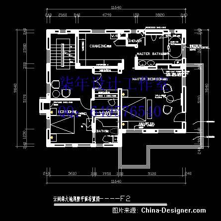 别墅二楼平面图