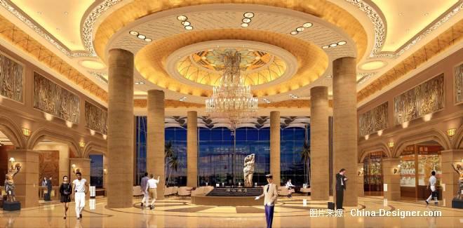 雁山酒店大堂-罗永的设计师家园-200万以上