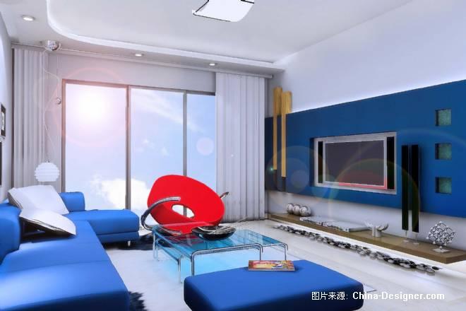蓝色系卧室壁纸