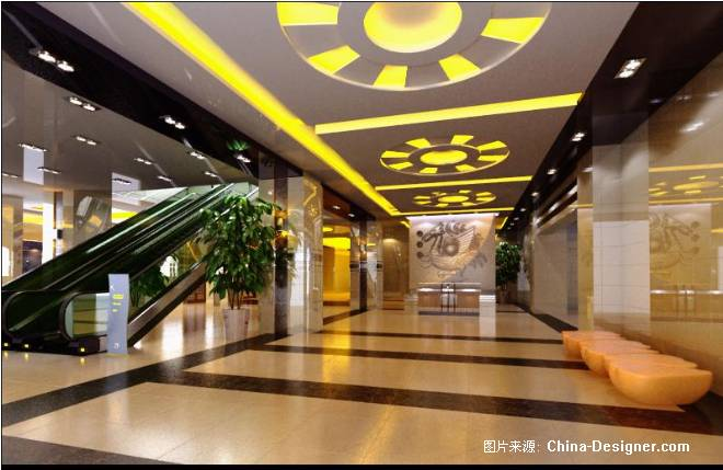 《商场大厅电梯间》-设计师:潘强