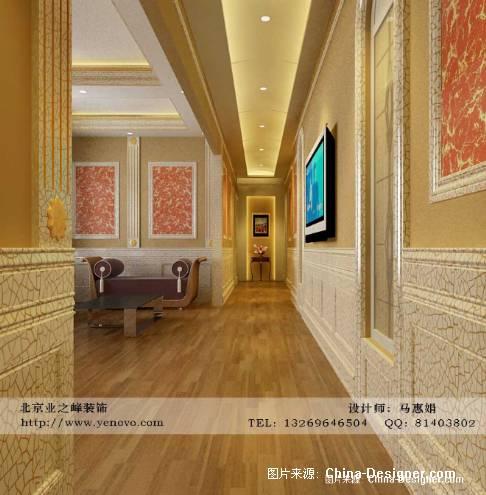 起居室过道-马会娟的设计师家园-50-100万,别墅,玄关,黄色,欧式图片