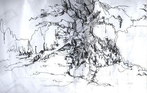 临摹国外大师的树-吴哓的设计师家园-黑色