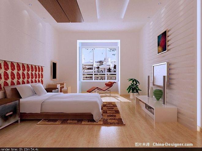 主卧室-谢语的设计师家园-卧室,白色,现代