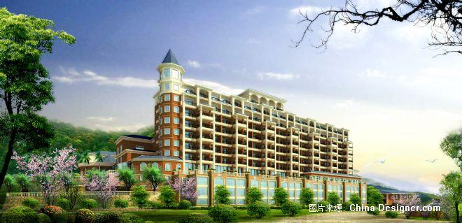 湖大酒店立面透视-刘志成的设计师家园-田园