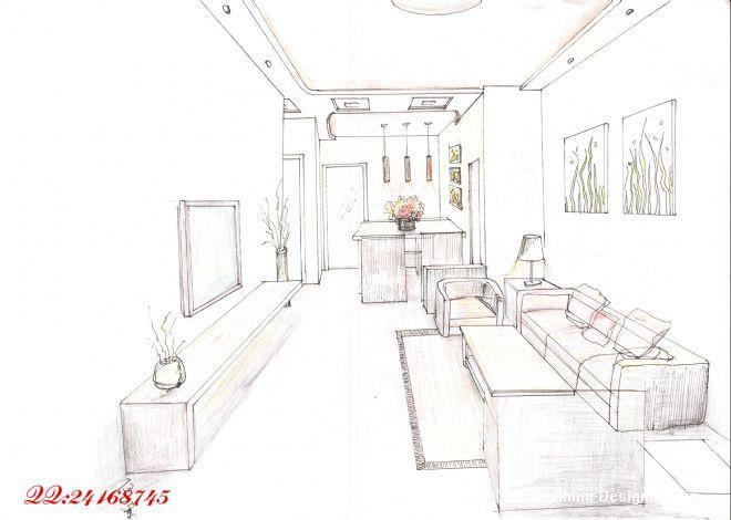 建筑家居手绘建筑设计素材