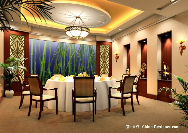 欧式餐厅包间手绘图