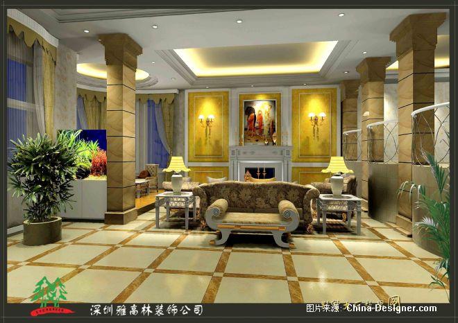 别墅大厅-陈志琳的设计师家园-欧式