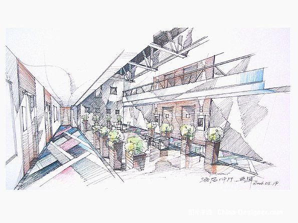 酒店大堂草图-1-融度室内建筑设计有限公司的设计师家园-现代