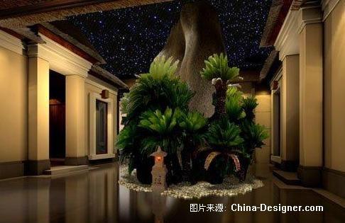 女子spa会所室内景观效果-潘瑾的设计师家园-奢华,沉稳,中式图片