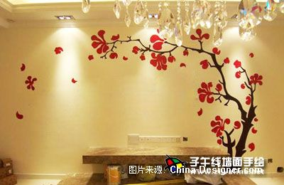 《电视背景墙手绘14》-设计师:上海子午线手绘墙画室.