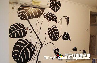 电视背景墙手绘16-上海子午线手绘墙画工作室的设计师家园-上海墙面图片