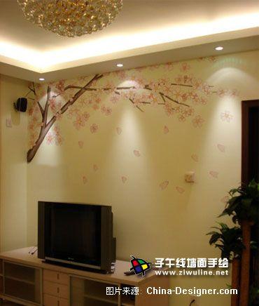 《电视背景墙手绘21》-设计师:上海子午线手绘墙画室.