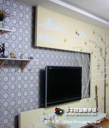 《电视背景墙手绘19》-设计师:上海子午线手绘墙画室.