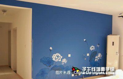 《电视背景墙手绘18》-设计师:上海子午线手绘墙画室.