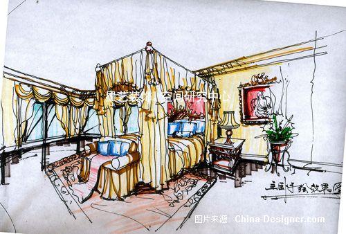8(主卧手绘图)-聂林的设计师家园-欧式