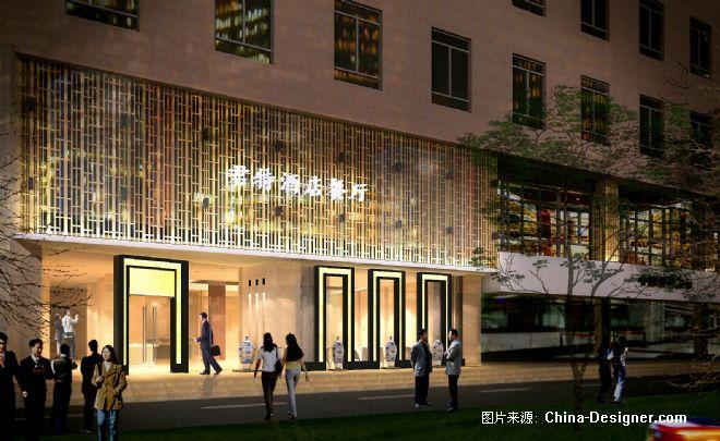 嘉兴酒店餐厅外立面效果图-徐煌生的设计师家园-黄色