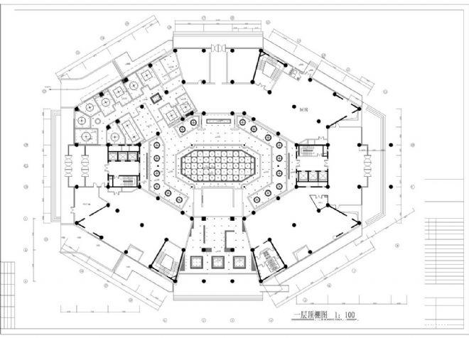 新开元酒店一层大堂顶面图-焦明杰的设计师家园-中式