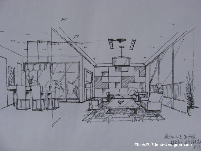 餐饮空间手绘效果图