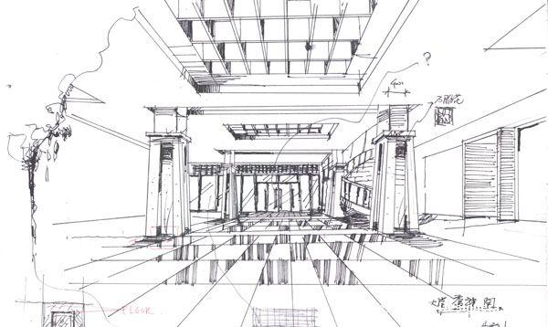室内设计方案手绘草图