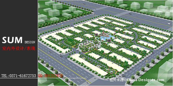 临颍某小区绿化鸟瞰图设计-河南郑州金杰设计公司的设计师家园-绿化