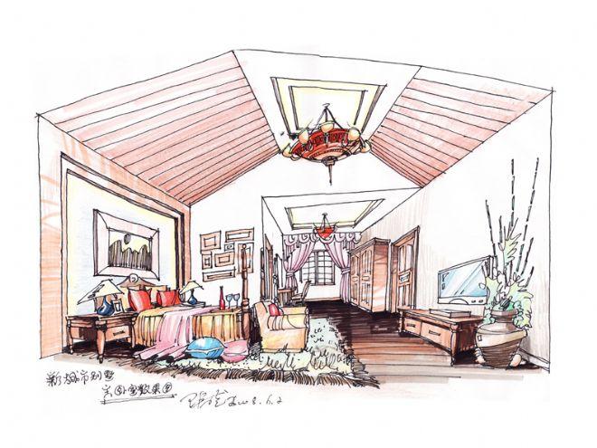 6上传-张盛的设计师家园-别墅主卧室